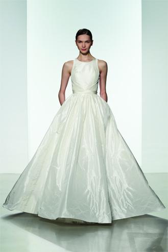 Vestido de Novia Troy de tafetán fina corte princesa
