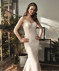 Vestido de novia Eliana corte sirena con encaje chantilly