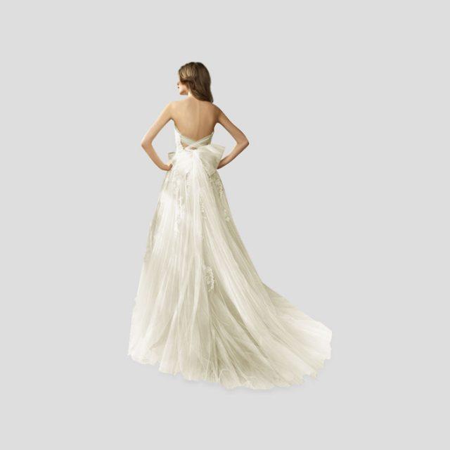 Vestido de Novia princesa de falda de tul con detalle en espalda